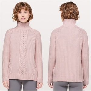 LuLuLemon Bring The Cozy Turtleneck Cable Sweater